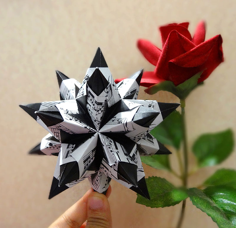 Origami bascetta star paolo bascetta folded by anita raj ez origami origami bascetta star mightylinksfo