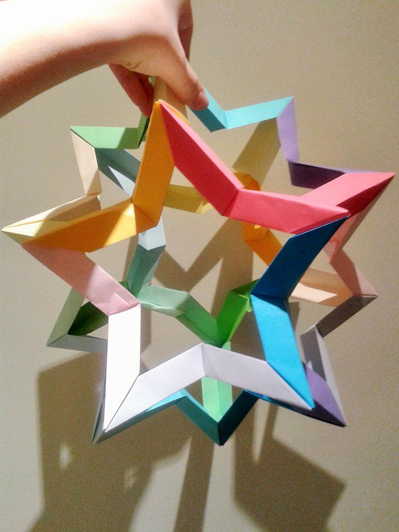 Origami Star Dodecahedron Francesco Mancini Folded By Kaya Eliasen