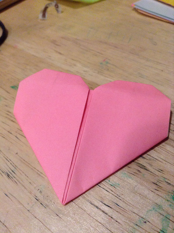 Origami Heart (Traditional) Folded by Linh