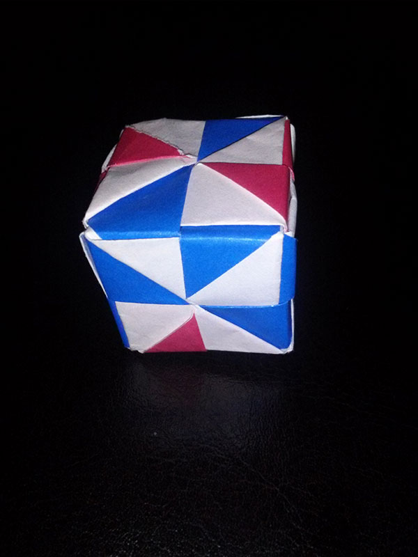 Origami Pinwheel Cube (Traditional) Folded by Lydia Olivarez