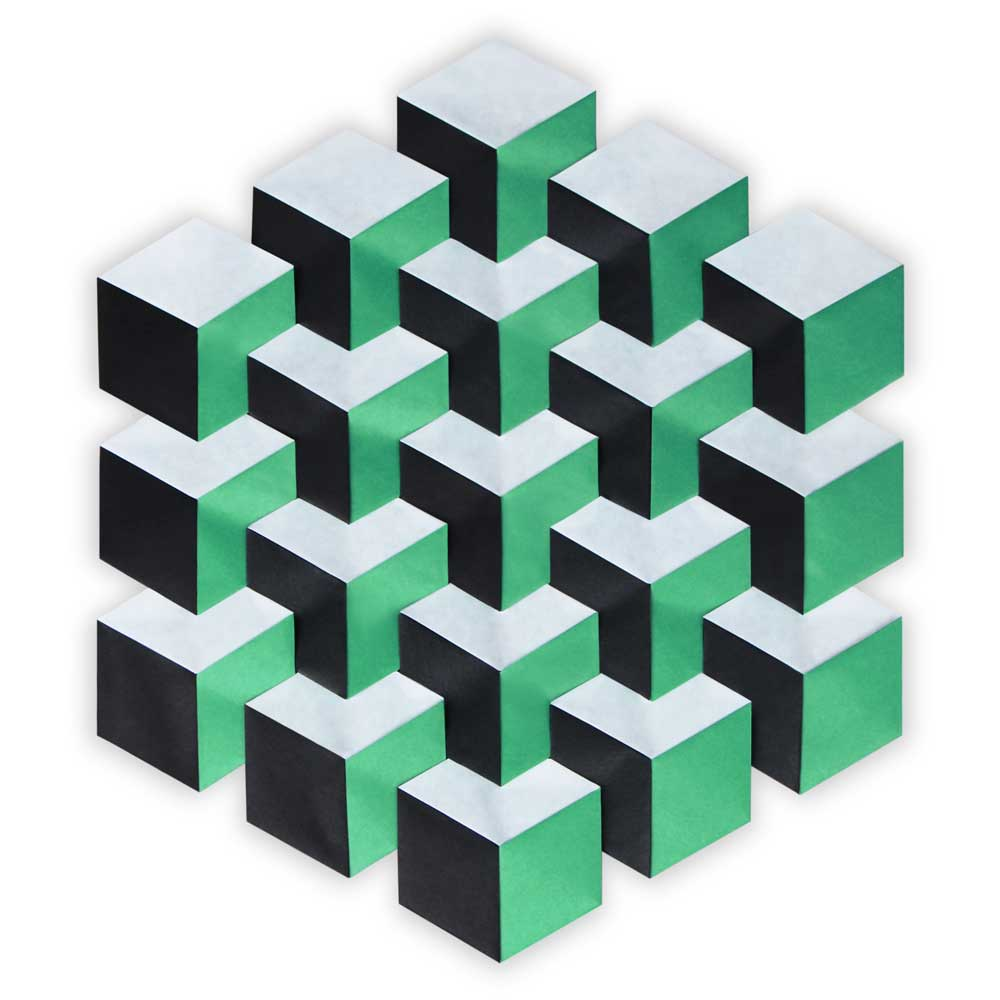 Cube Illusion Tessellation (Evan Zodl)