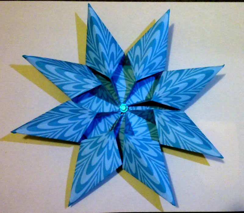 Origami Diamond Star Francesco Guarnieri Folded By Jaudy Martinez