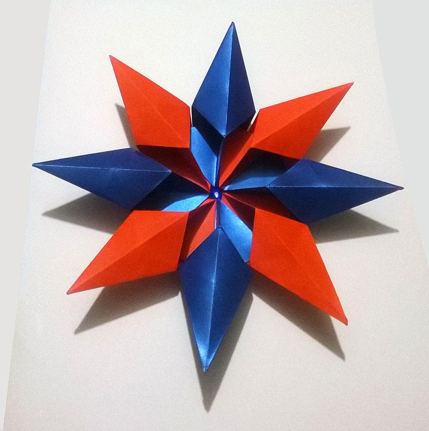 Origami Diamond Star Francesco Guarnieri Folded By Jesus