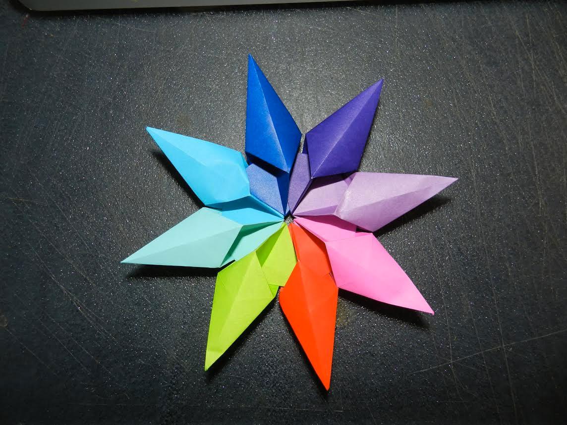 Origami Diamond Star Francesco Guarnieri Folded By Marsha Pitman