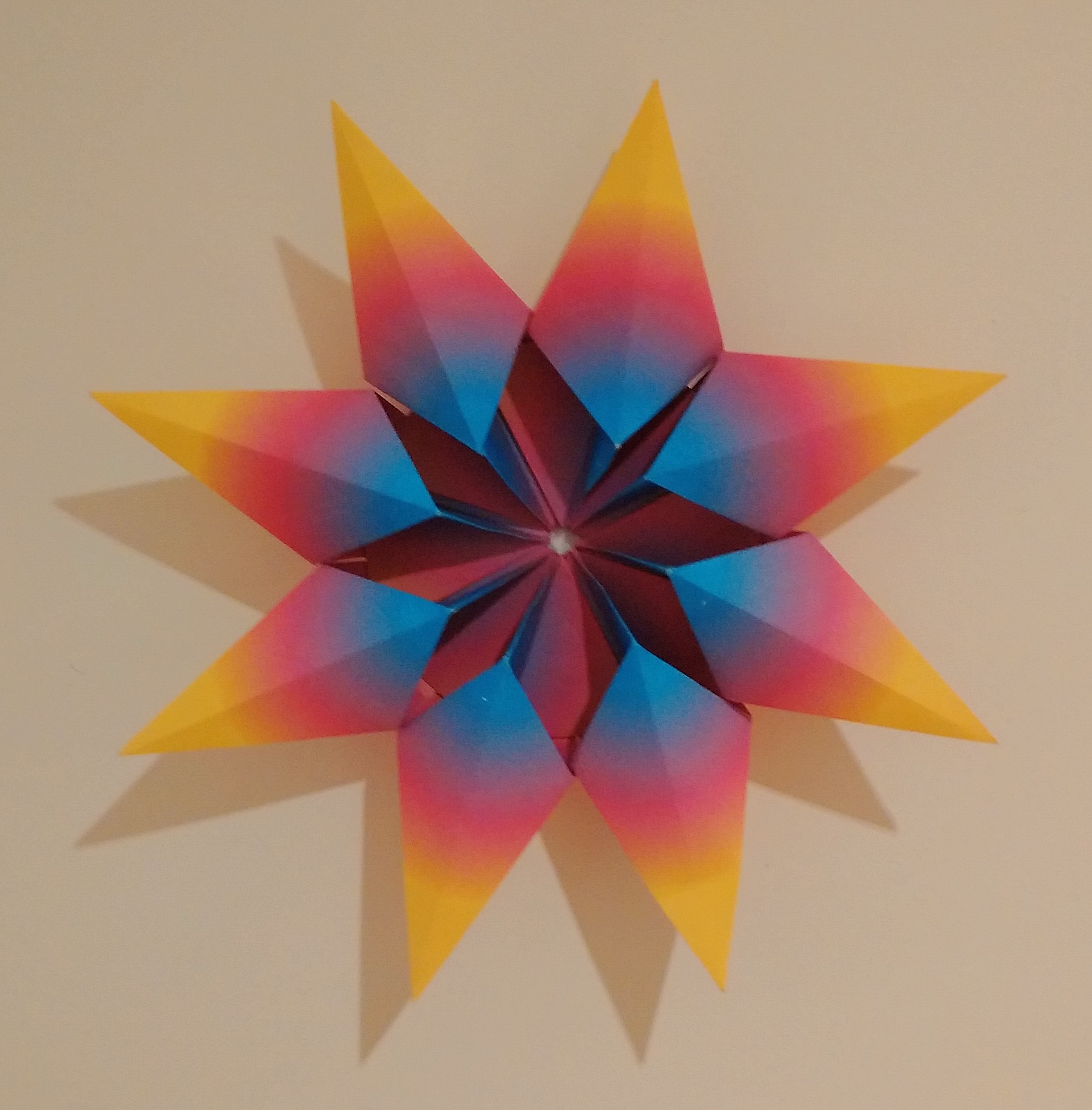 Origami Diamond Star Francesco Guarnieri Folded By Paula