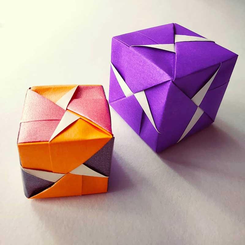 Modular Origami Sonobe Bowl Tutorial - Paper Kawaii | 800x800
