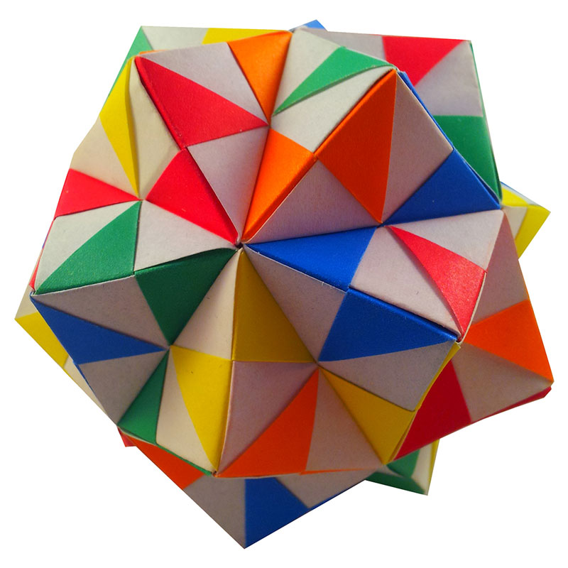 Origami Pinwheel Unit Icosahedron Folded By Edward Holmes Ez Origami