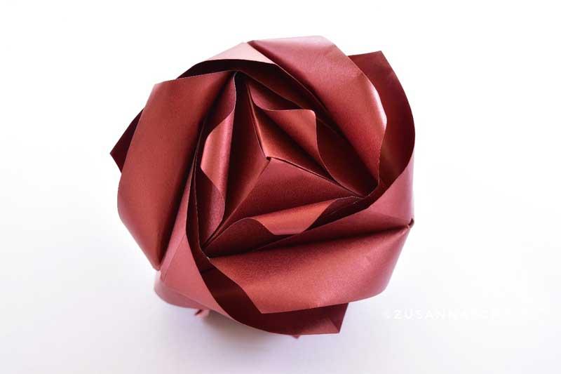 Origami Royal Rose Cube Maria Sinayskaya Folded By Zusanna Woe