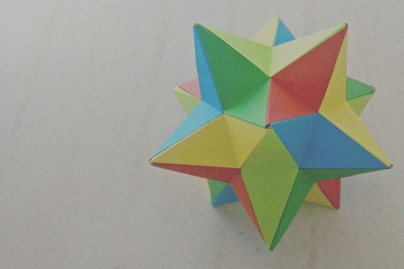 Origami Lesser Stellated Dodecahedron Meenakshi Mukerji Folded By