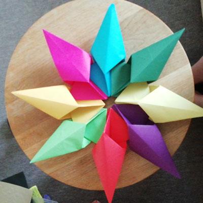 Make An Origami Diamond Star - YouTube | 400x400