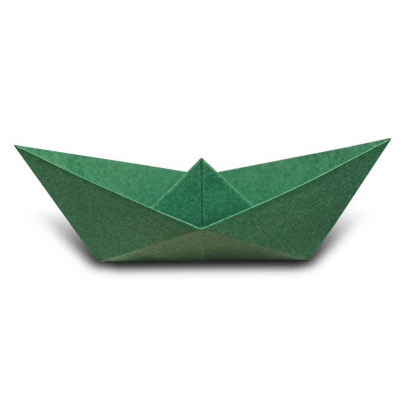 Paper Boat Folded By Marisa Ez Origami