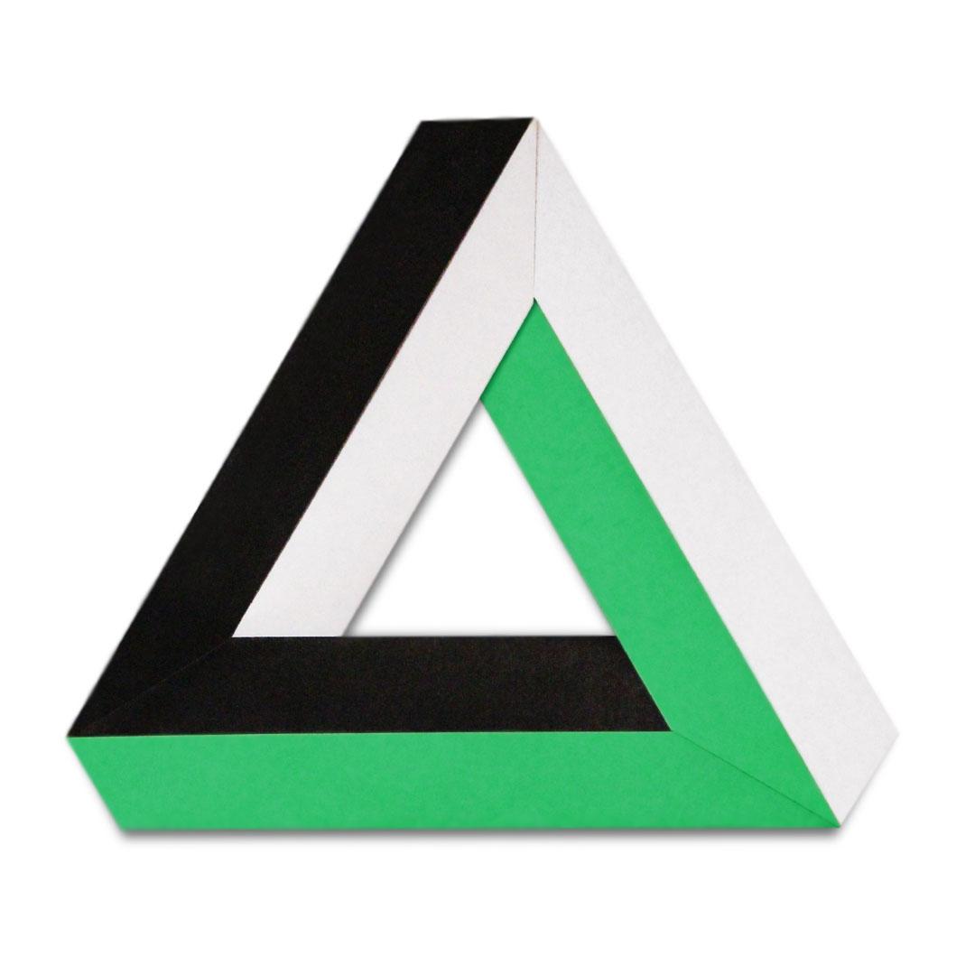 Origami Penrose Triangle (Alessandro Beber)