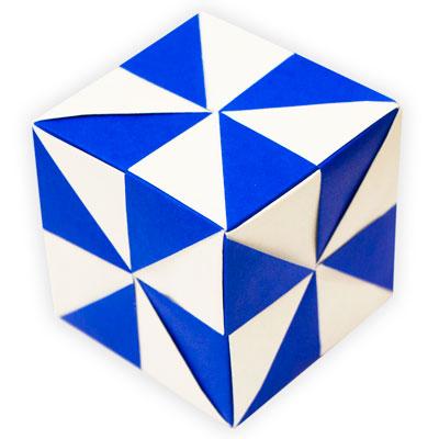 Origami Pinwheel Unit Icosahedron Folded By Edward Holmes